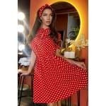 Червона сукня в горох 1438