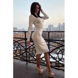 Белое платье из молочной ангоры - 1447
