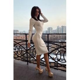 Біла сукня гольф з ангори - 1280
