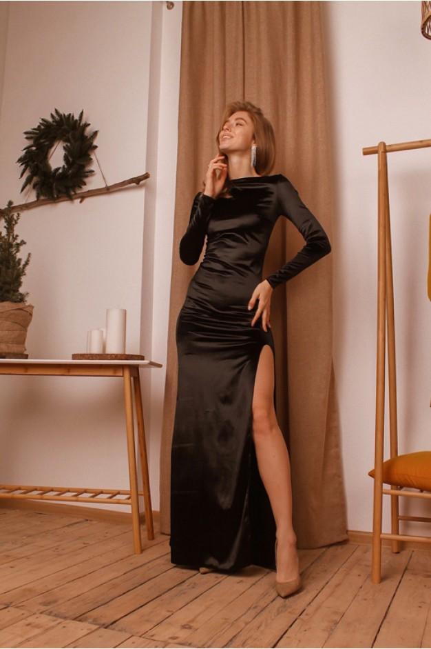 купить длинное платье с разрезом на ноге