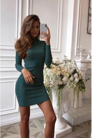"""Платье гольф """"Мустанг"""" зеленого цвета - 1253"""