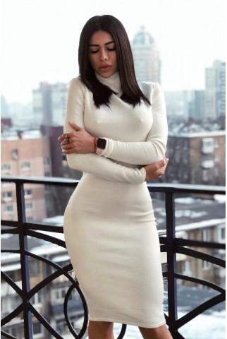 Белое платье гольф из ангоры - 1280