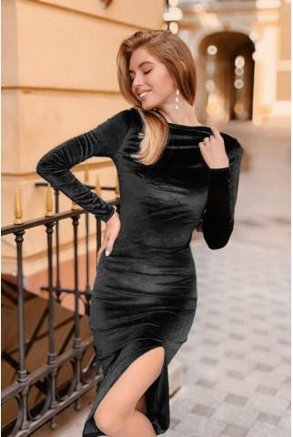 Чорне оксамитове плаття міді - 1347