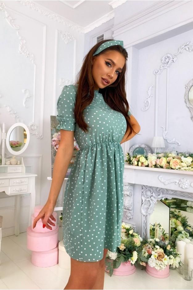 Платье в мятный горох - 1386