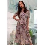 Плаття міді в квітковий принт - 1393