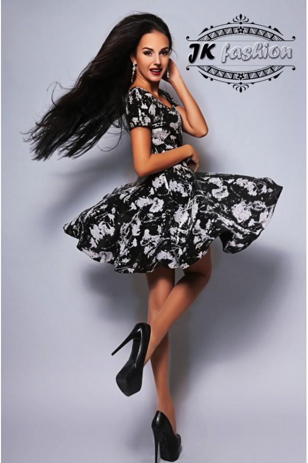 Платье с пышной юбкой полностью с пайеток 858