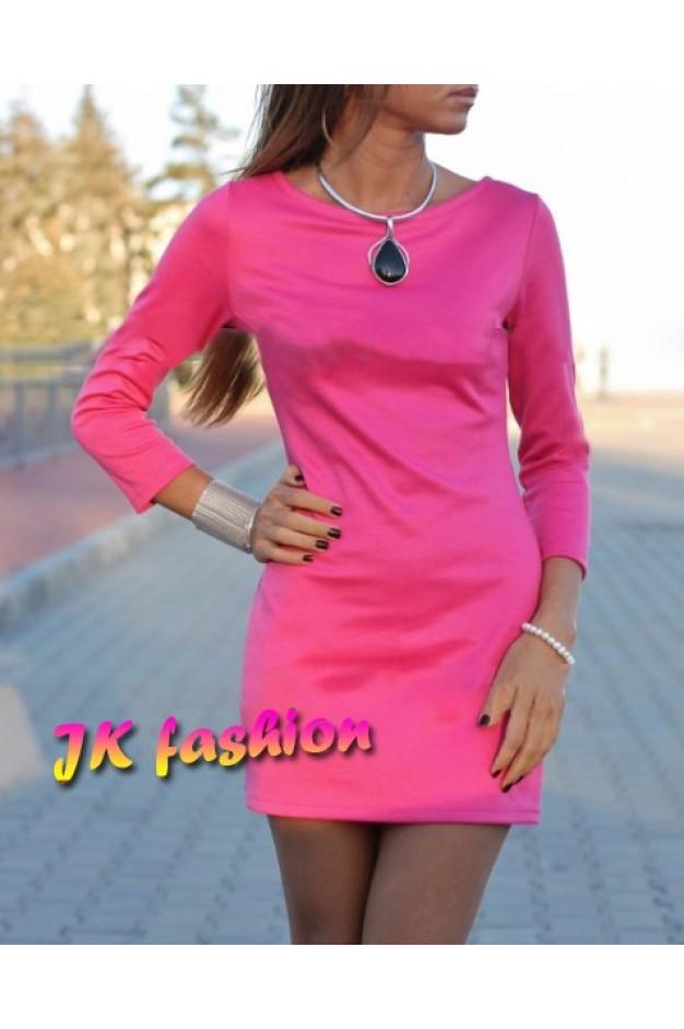 Розове плаття футляр, міні довжини 531