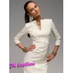 Біле плаття прямого крою (футляр) горловина крапелькою 358