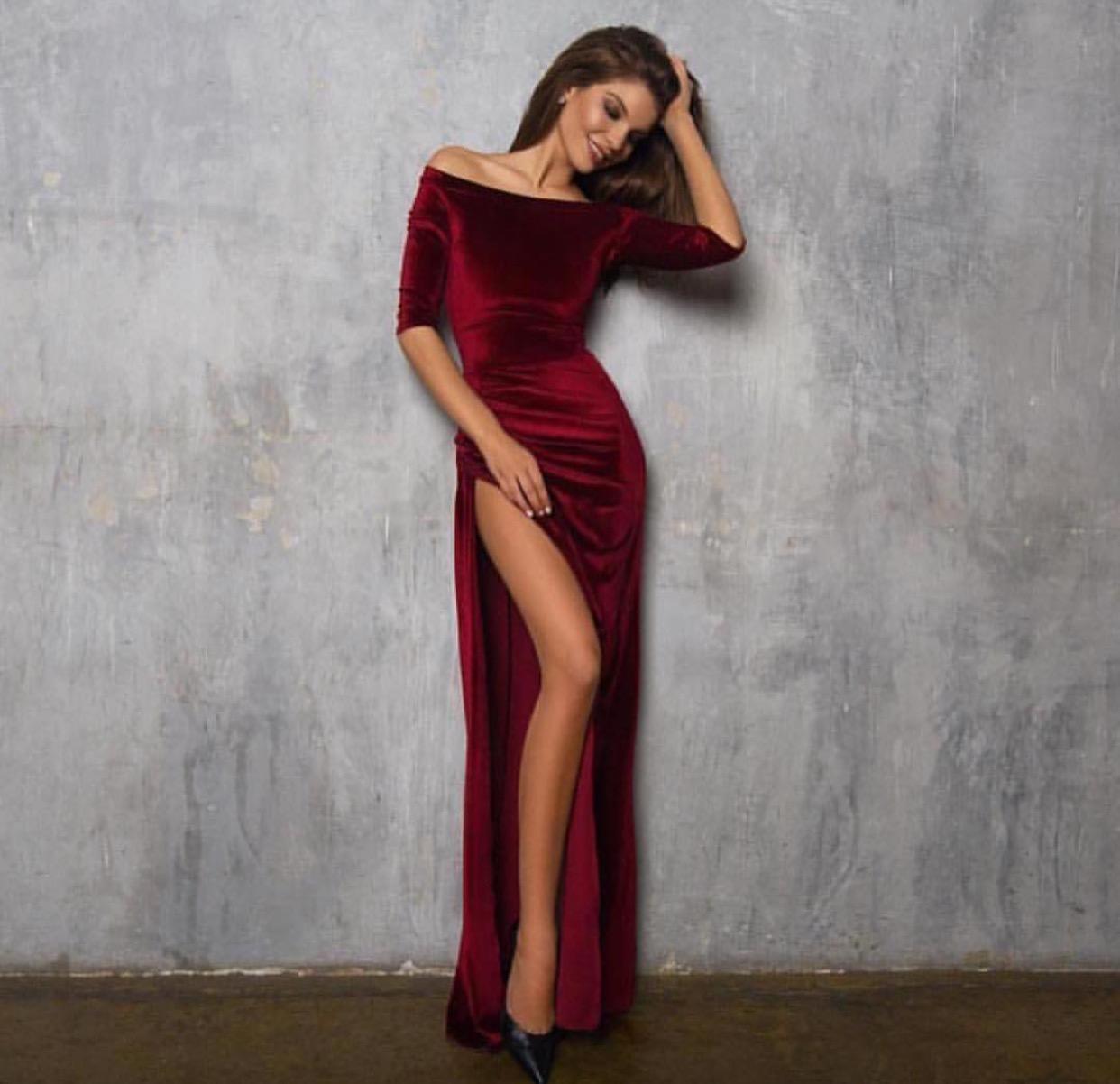 Бархатные платья - настоящий хит!