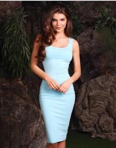 платье голубое от JK Fashion